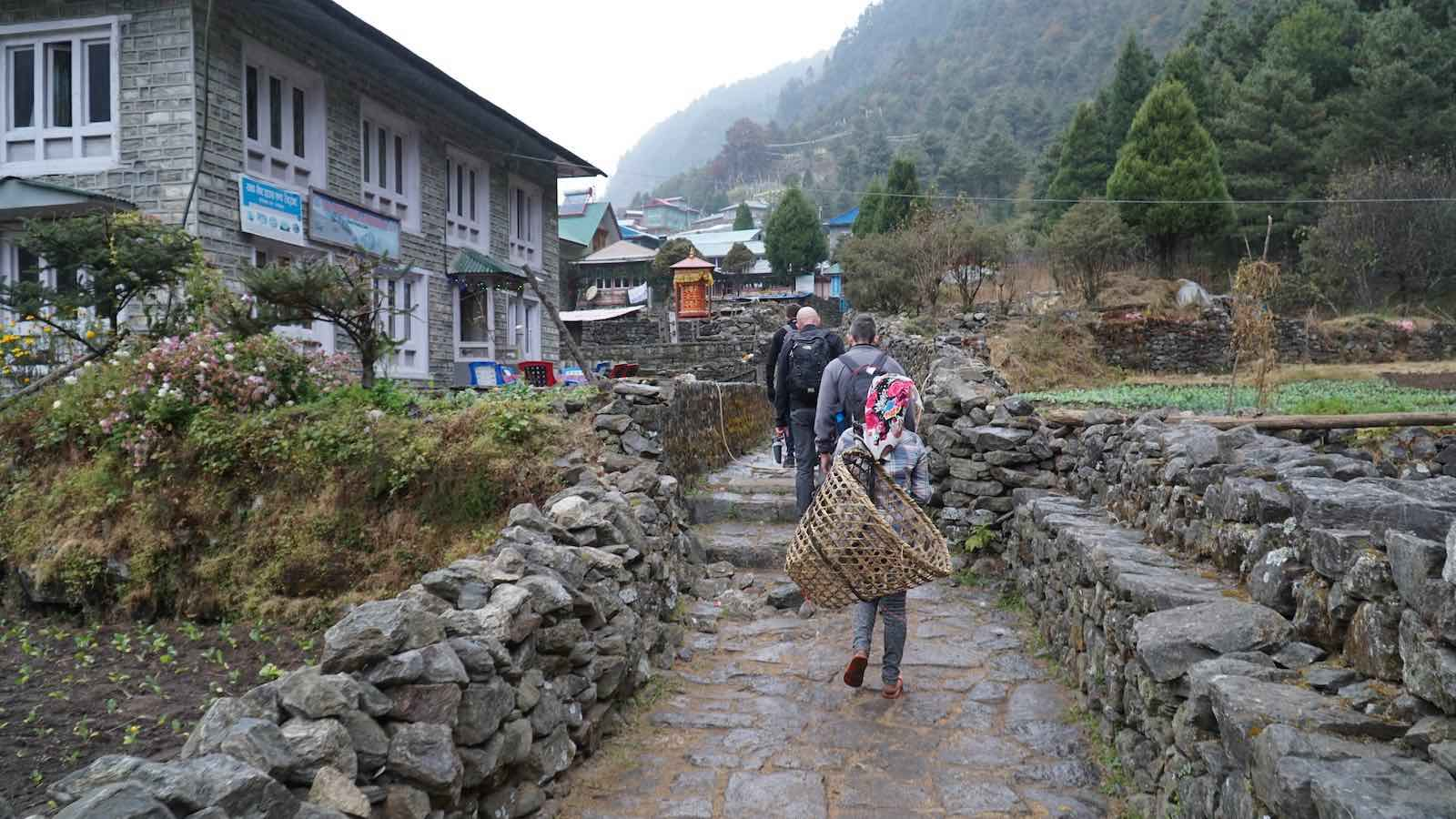 Trekked through a lot of little villages on the sides of the valley