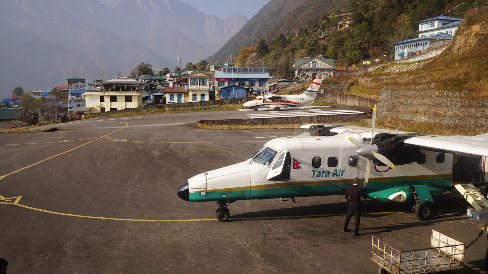 Spent the day at the chaotic Lukla Airport watching flights take off at the most dangerous airport in the world