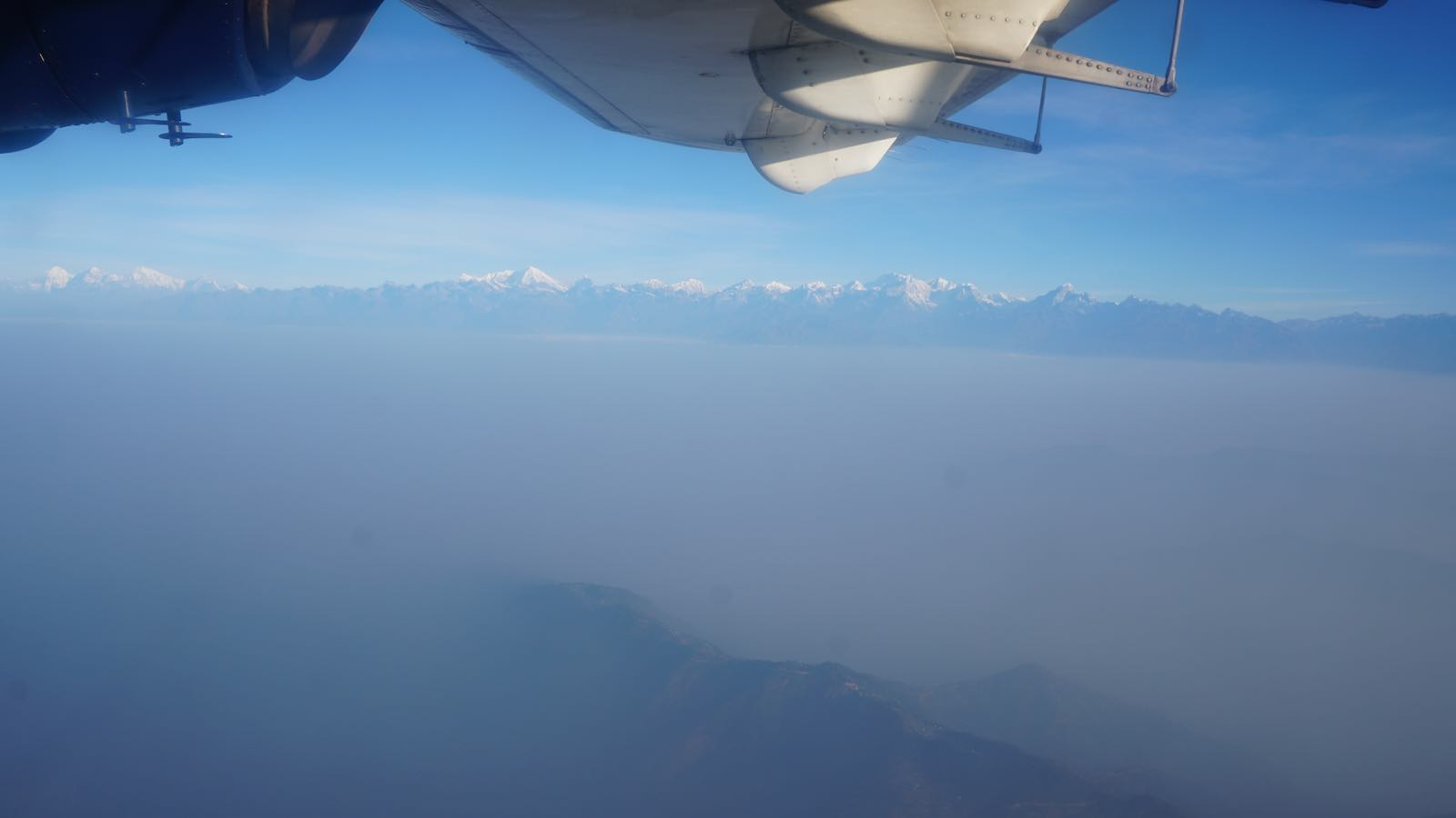 We flew out! And it was a perfectly clear day (until we got near Kathmandu) with an amazing view of the post prominent Himalayan peaks