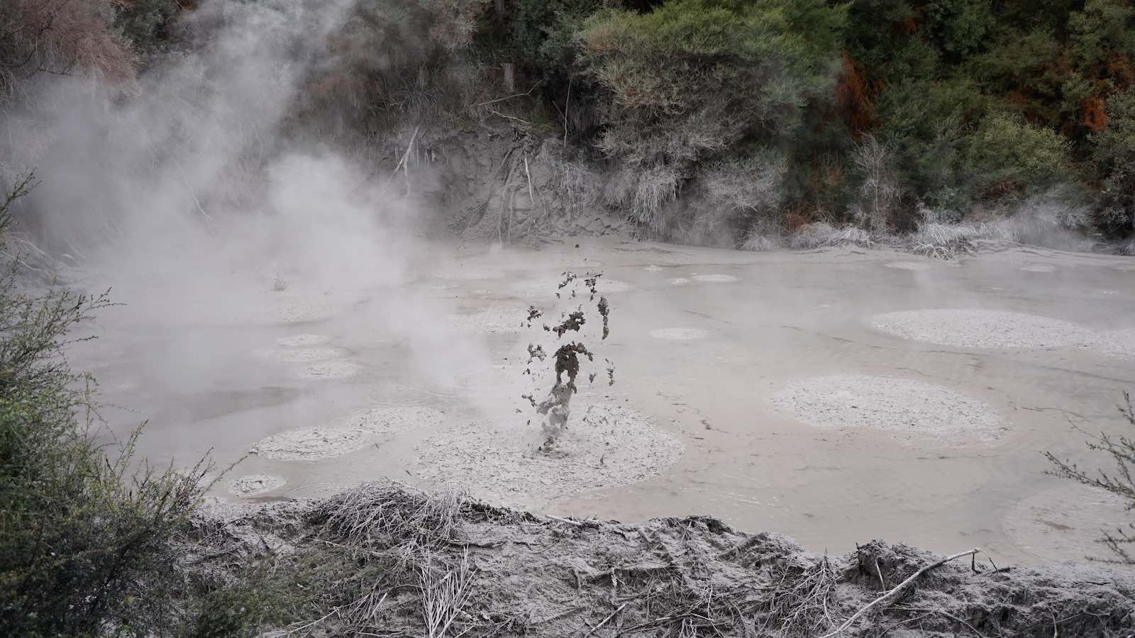 Earth's so hot, making that mud pop