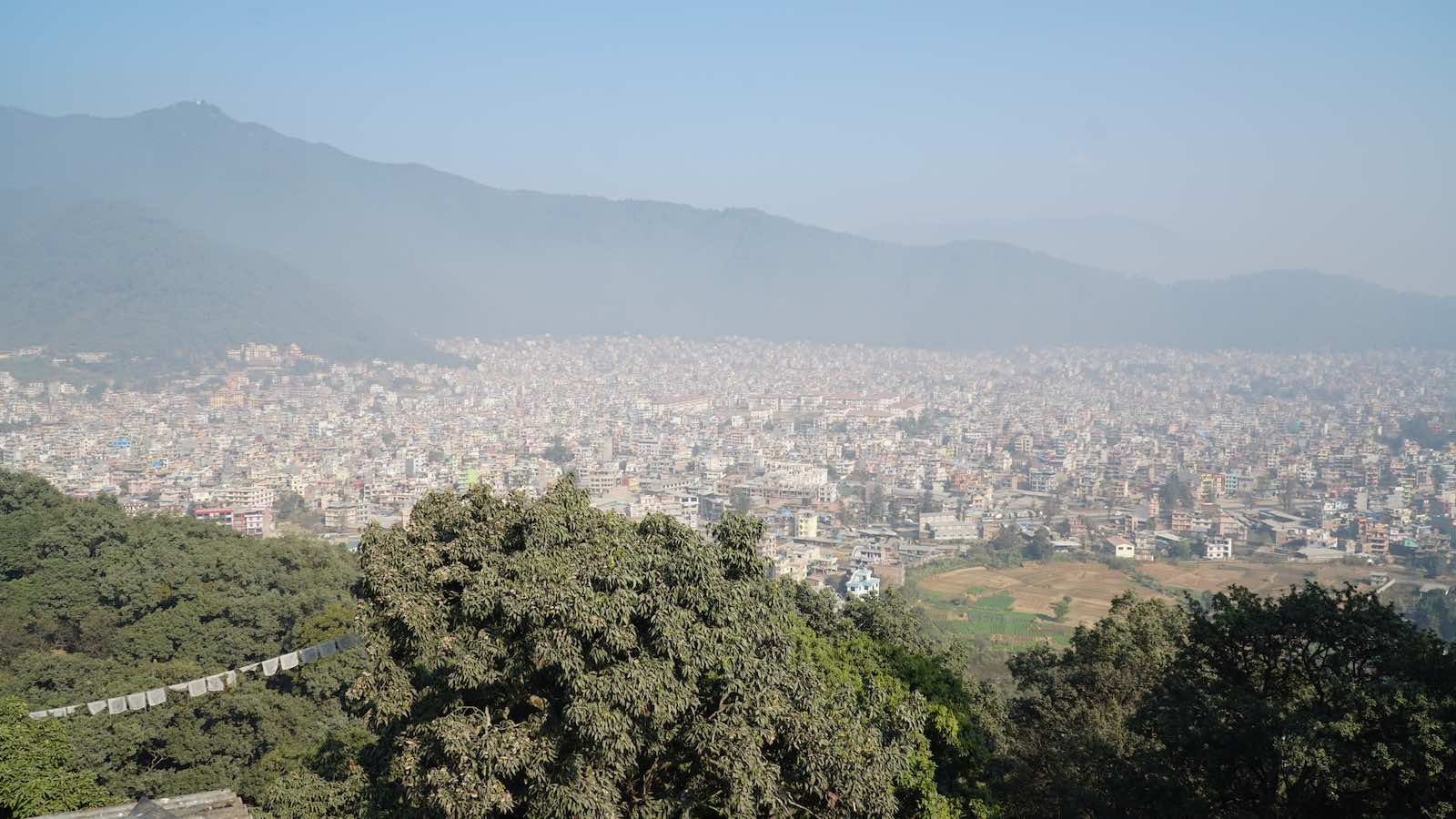 View of just a small slice of Kathmandu. It was like this all around.