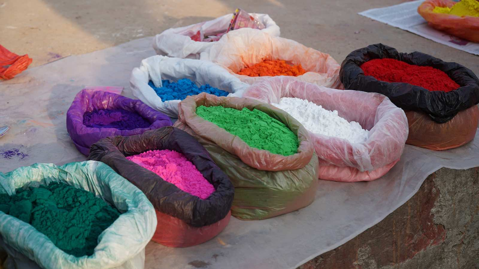 Saw a lot of people on the street selling the festive colored powders.