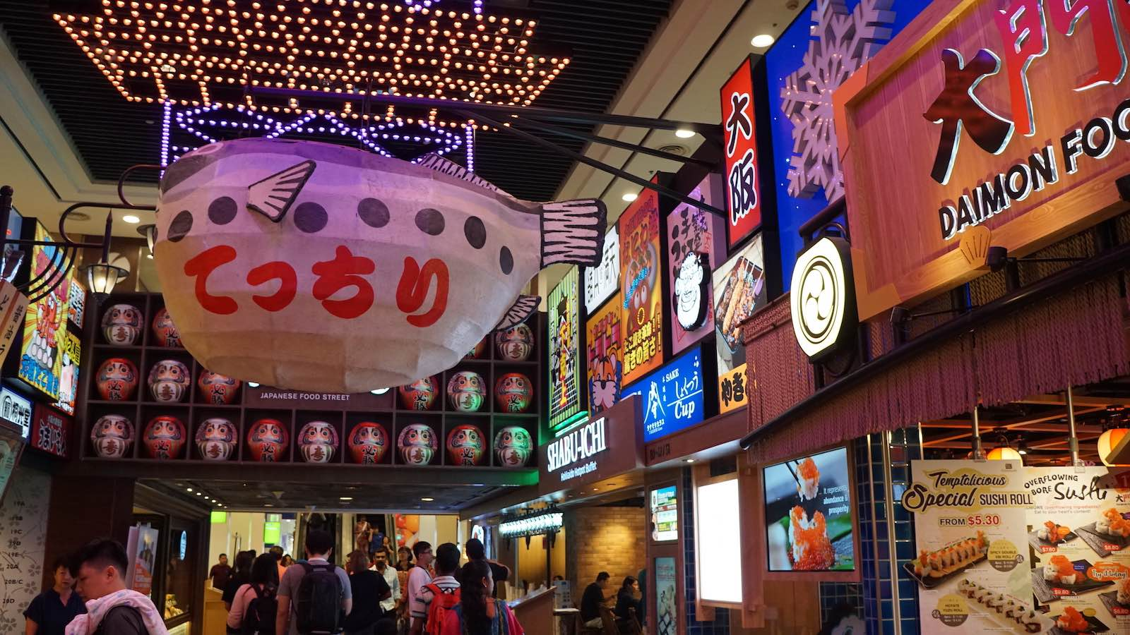 Another night, I explored a local mall which had different wings that were themed to different countries/cultures, here's the 'Japan' wing
